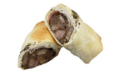 Chunky Beef and Cracked Pepper Filo