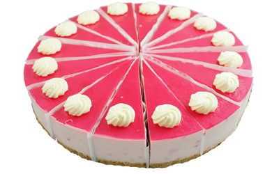 Raspberry White Chocolate Chilled Cheesecake