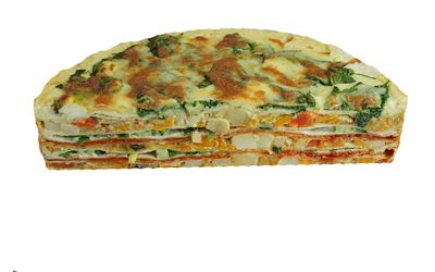Vegetable Baked Tortilla Stack